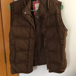 Brown Teens Puffer Vest